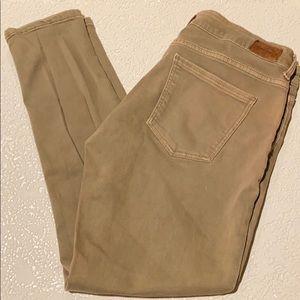 Zara 1975 Premium Skinny Cropped Khaki Jeans 6